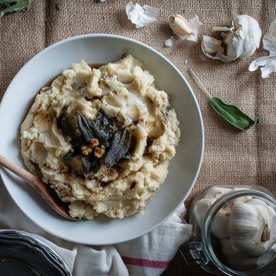 Sage, Brown Butter & Crème Fraîche Mashed Potatoes