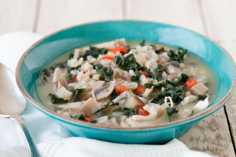 Barley and Mushroom Chicken Soup