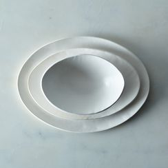 Food52 Handmade Oval Dinnerware, by Looks Like White