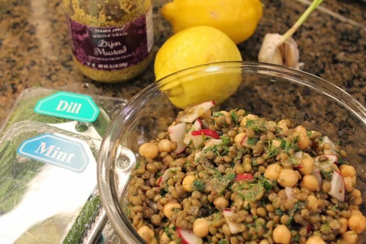 Chickpea & Lentil Salad with Sumac