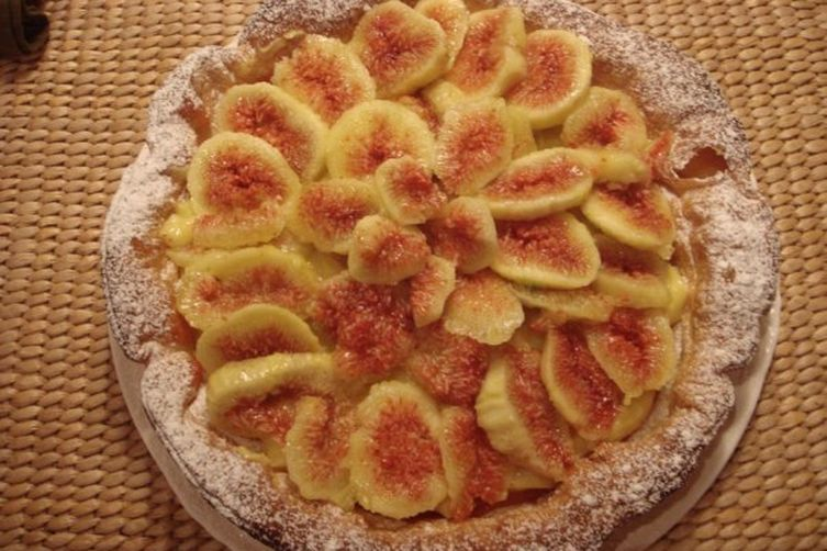 Fresh Fig puff pastry tart