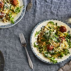 Tender Turkey Meatballs and Orzo with Whole-Lemon Vinaigrette