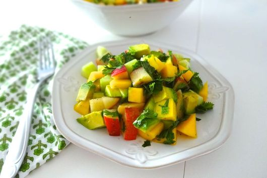 Mango Cucumber & Avocado Salad w/Honey-Lime Vinaigrette