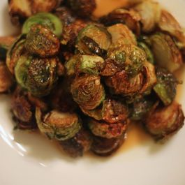 Fried Brussels Sprouts with Apple Gastrique