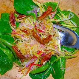 Be gone, afternoon slump, apple ginger salad
