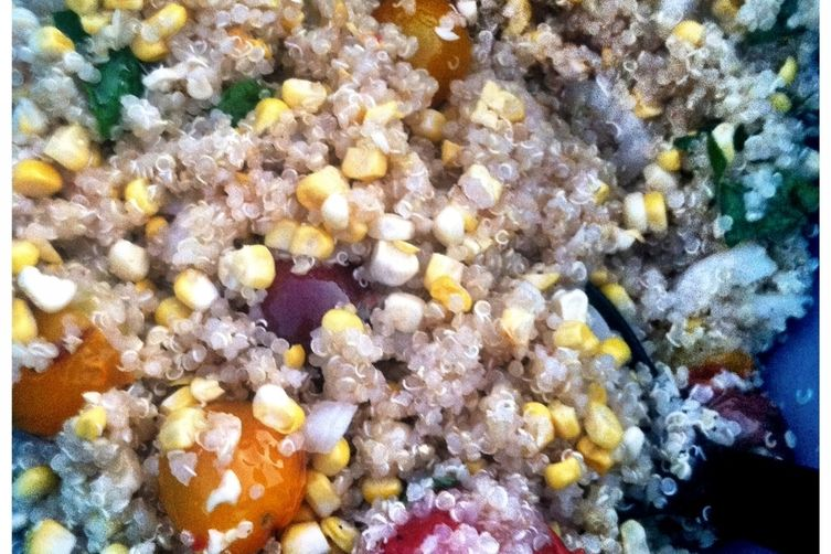 Grilled Corn and Cherry Tomato Quinoa