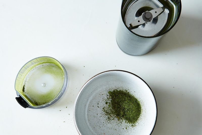 Two of my great loves: spice grinder, curry leaves.