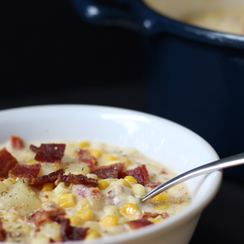 Corn Chowder With Sundried Tomato And Bacon