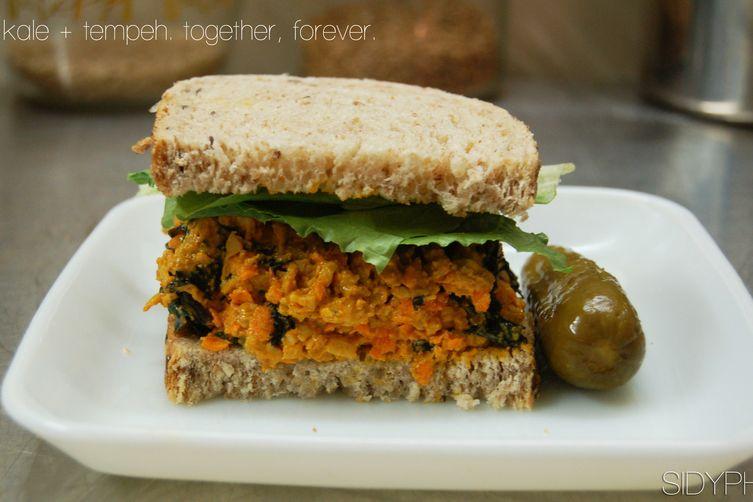 Kale & Tempeh Sandwiches