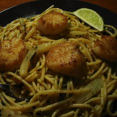Scallop and Fennel Pasta in Lime Butter Sauce