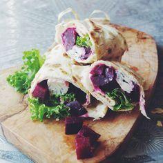 Beetroot & Gorgonzola Wrap