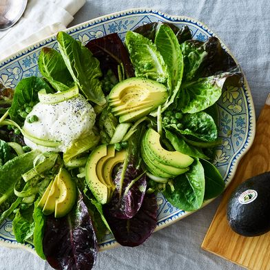 Pea, Asparagus, & Avocado Salad With Burrata