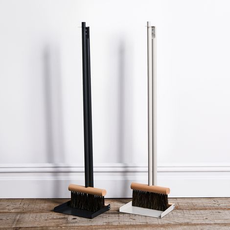Vintage-Inspired French Standing Dustpan Set