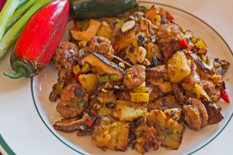 Andouille Sausage Hash With Yukon Gold Potatoes