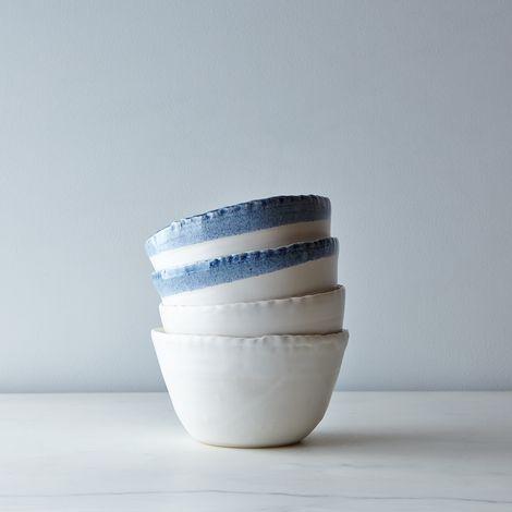 Deep Porcelain Soup Bowls (Set of 2)