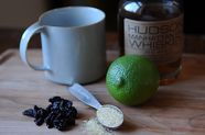 Hot Toddy with Dried Cherries and Lime