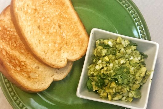 A ZHOUGY EGG SALAD WITH TOAST