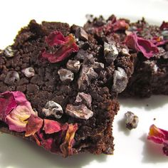 Rosy Raw Brownies