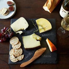 Brooklyn Slate Cheese Board, Knife and Soapstone Pencil Set