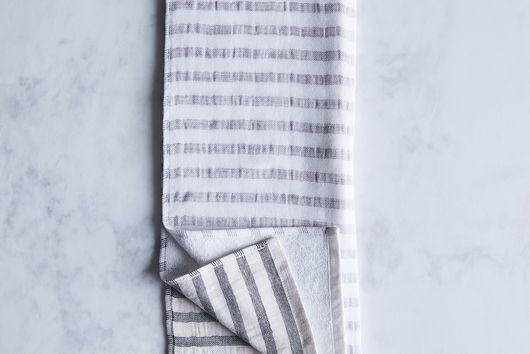 Striped Linen & Cotton Japanese Bath Towels
