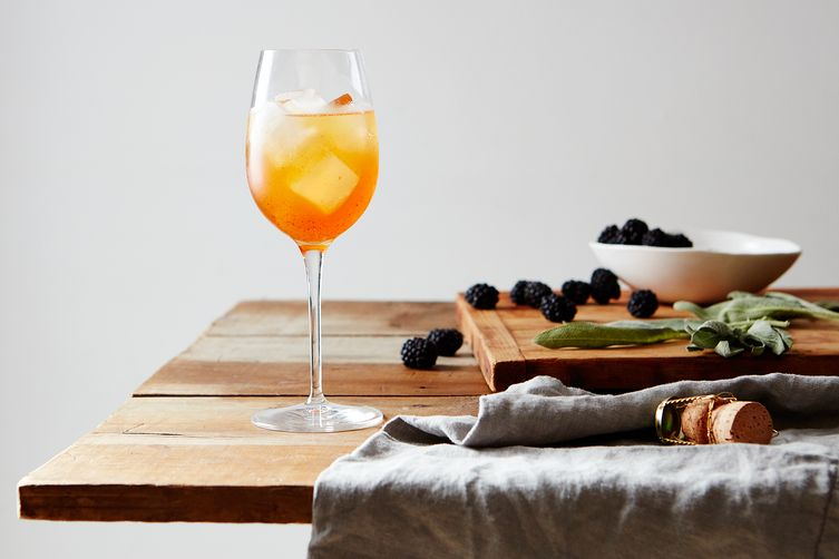 Smashed Blackberry Sage Spritz