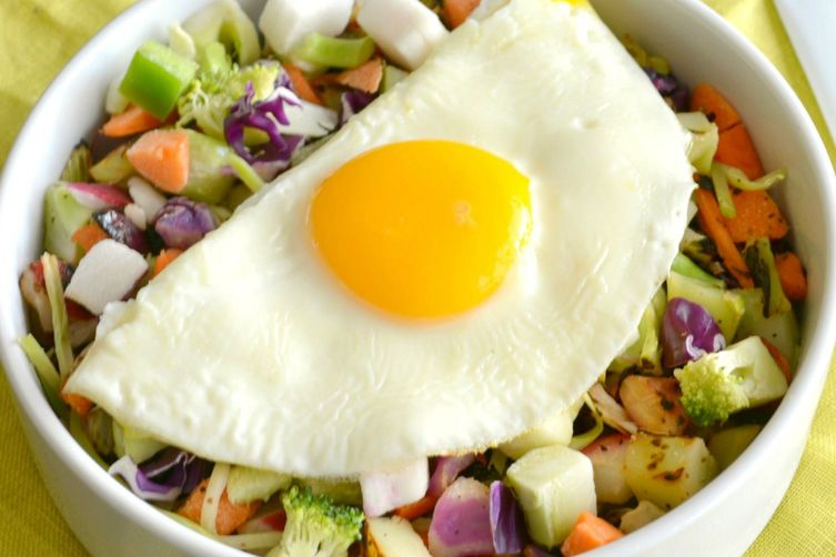 Chopped Veggie Breakfast Salad