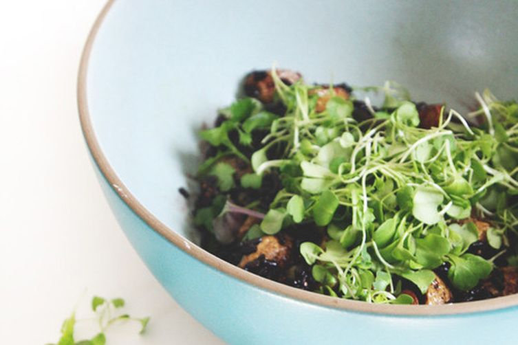 Black Rice Salad with Potatoes and Capers