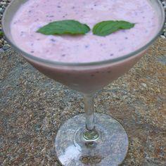 Blueberry aloe lassi