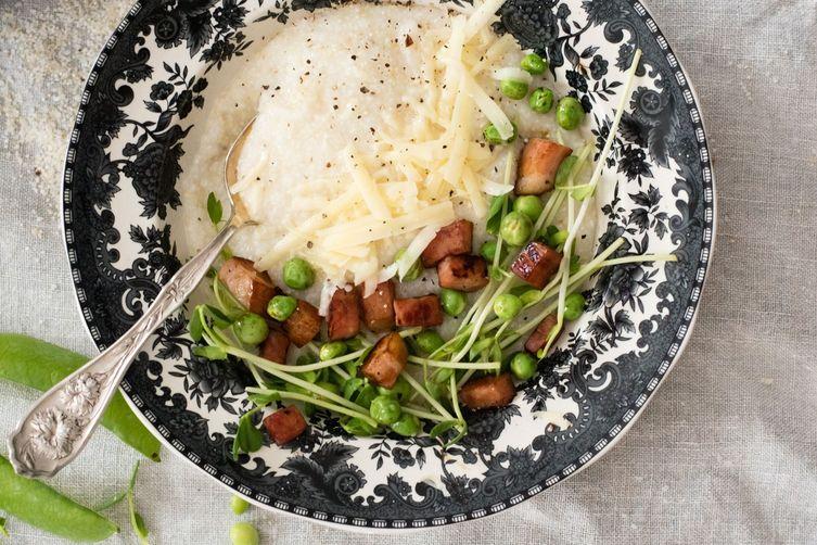 ham + pea cheesy grits
