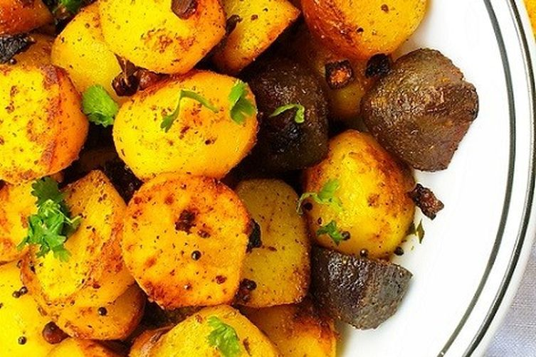 Baby Potato Roast - Indian Style