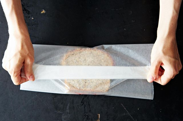 Wrapping a sandwich from Food52