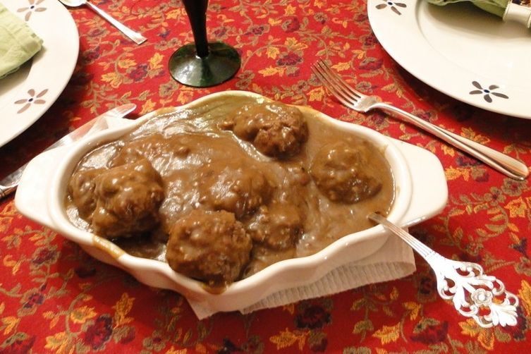 Mom's Norwegian Meatballs with Gravy (Kjøttkaker med brunsaus ...