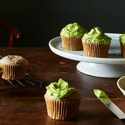 Black Sesame Cupcakes with Matcha Buttercream