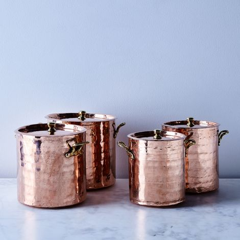 Vintage Copper French Pots, Late 19th Century (Set of 4)