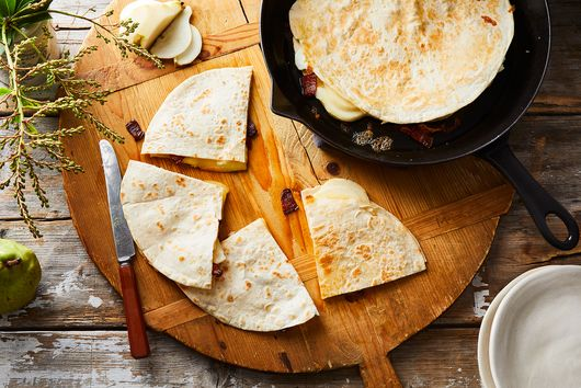 Jack's Pear, Bacon, & Goat Cheese Quesadillas