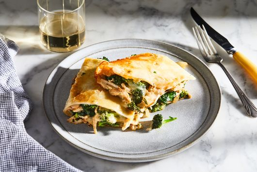 Overstuffed Chicken & Broccoli Quesadillas