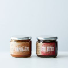 Pumpkin Pear Butter & Apple Butter with Pecans (2 Jars)