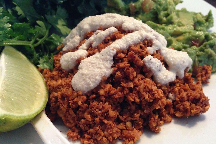 """Raw Vegan Tacos with Walnut """"Meat"""""""