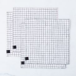 Linen Check Napkins (Set of 4)