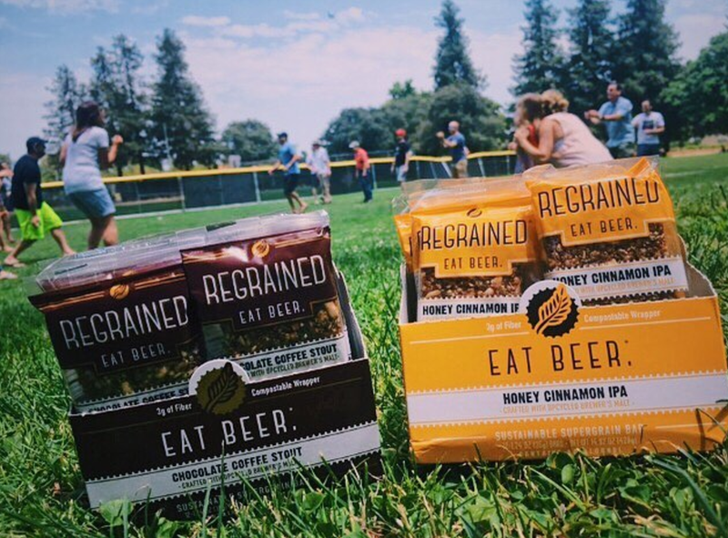 ReGrained granola bars, a way to drink beer and eat it too.
