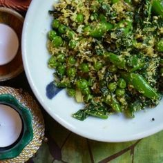 Indian-Style Spiced Peas with Toasted Coconut