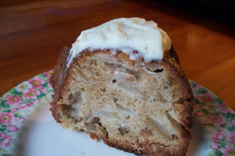 Pear Cardamom Bundt Cake