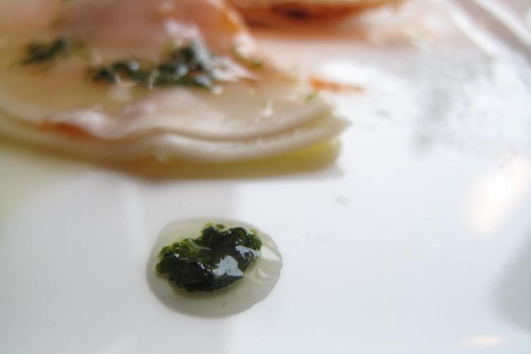 Cheat's round ''ravioli''....