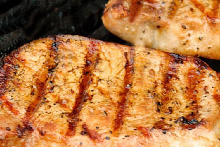 Oolong and Rosemary-Brined Boneless Pork Chops
