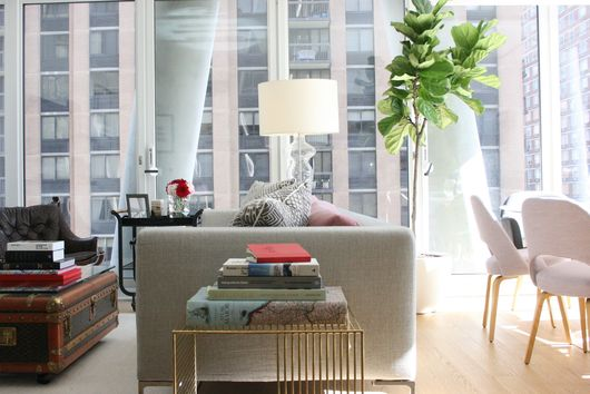 A Tip for Getting More Color and Complexity in a Small Living Space