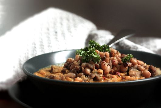 Sweet Potato Chili with Sausage & White Beans