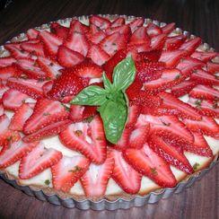 Sherry Basil Strawberry Tart
