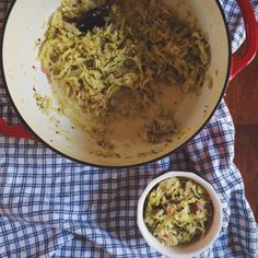 Creamy Cabbage with Pancetta and Caraway Seeds