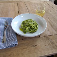 Orzo with Broccoli Rabe Pesto