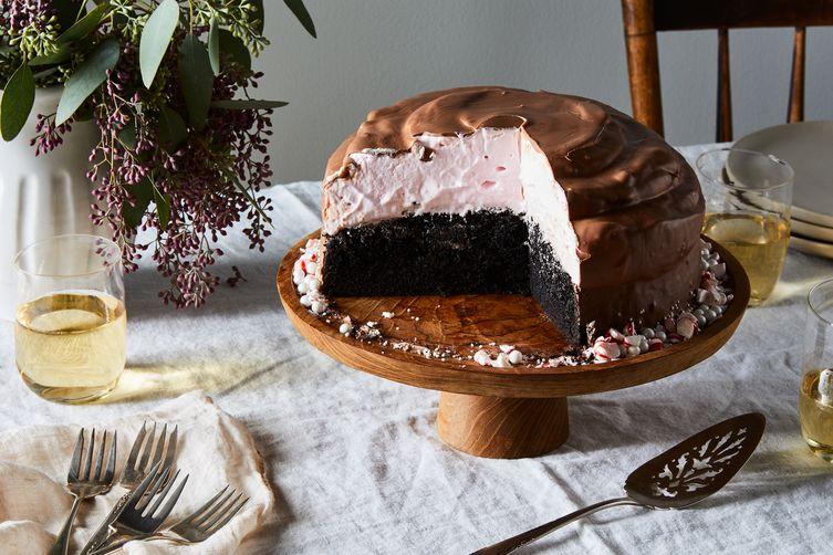 Peppermint Hi-Hat Cake